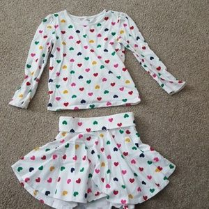 Old Navy Girl's skirt and top set sz 5